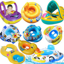 Sunshade Baby Float Seat Car Boat Inflatable Swimming Ring Pool Water Fun 8 Type