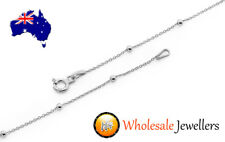 Brand New Solid 925 Sterling Silver Italian Ball Trace Pendant Chain Necklace