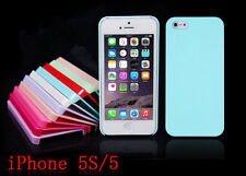 New For Apple iPhone 5 5S Pastel TPU Candy Color Hard Case Cover Skin Hot