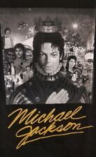Music Tee - MICHAEL JACKSON - BW COVER GOLD SIGNATURE (BABYDOLL)