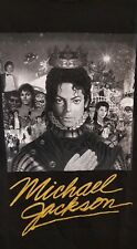 Music Tee - MICHAEL JACKSON - BW COVER GOLD SIGNATURE