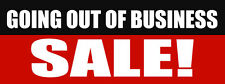 Going Out Of Business Sale! Promotion Business DECAL STICKER Retail Store Sign