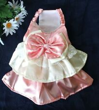 CUTE Puppy Wedding Princess PINK Dress Lace Bow For SMALL Dogs XXS, XS, S, M, L