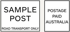 SAMPLE POST OR Custom Business Logo Text Rubber Flash Stamp Self Inking Refill