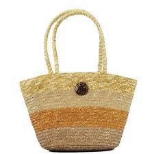 Cappelli Straworld Women's Hand Made Straw Tote Carryall Handbag