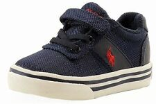 Polo Ralph Lauren Toddler Boy's Hanford EZ Navy Canvas Fashion Sneaker Shoes