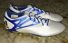 NEW Mens 8 8.5 ADIDAS Messi 15.2 FG / AG Soccer Cleats Boots White Blue Black