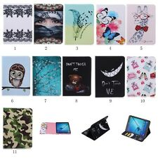 Printed PU Leather Wallet Flip Pouch Stand Case Cover For Apple Tablet iPad