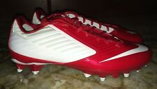 NEW Mens 10 NIKE Vapor Speed TD Low Red White Molded Football Cleats