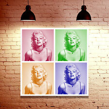 Marilyn Monroe Collage - Large Framed Canvas Print Picture - Pop Art Girls Gift