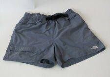 The North Face Polyester Grey Hiking/Swim Shorts Size M w/ Built in Belt