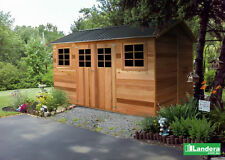 "Cedar Shed ""Willow"" 8x12 ft (2.5Mx3.6M) Large timber / wooden garden shed."