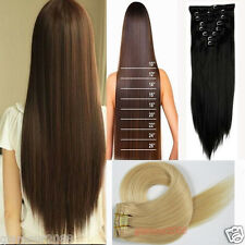 Clip In Remy Hair Extension 100% Real Human Hair Any Color 15''-28'' Full Head