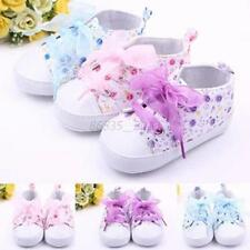 Infant Baby Girls Crib Shoes Toddler Soft Sole Sneakers Prewalker Boots 0-12M