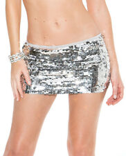 Shirley Of Hollywood Hand Sewn Sequin Mini Skirt ~ Black, Red or Silver