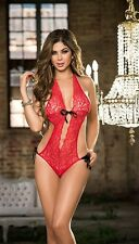 Sexy Espiral Lace Teddy w/ Satin Ribbon Ties Lingerie 8055