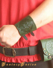 Medieval Knight Armor Celtic Cross Design Leather Cuff Bracer