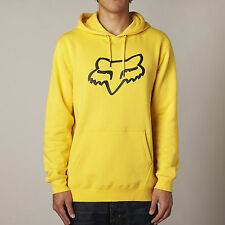 NEW FOX RACING YELLOW LEGACY PULLOVER FLEECE HOODIE HOODY MENS ADULT SWEATSHIRT