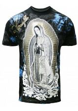 Konflic NWT Men's Giant Virgin Mary Grapic MMA Muscle Shirts(S/#786)