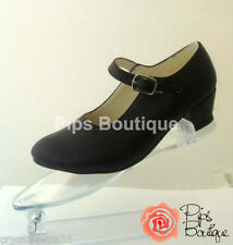 New Girls & Ladies Spanish Flamenco Dance Shoes Black -Child & Adult Sizes