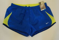 NWT Nike Womens DRI-FIT 5K Running Shorts Size M L Blue/Volt 573728