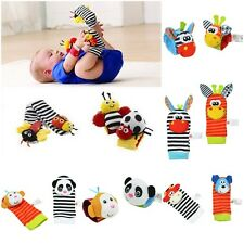 Useful Infant Baby Cute Animal Wrist Foot Sock Rattles Soft Toys Nice Finders US
