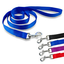 4pcs 48'' Nylon Dog Pet Lead Leash Soft for Dogs Walking Black Red Purple Blue