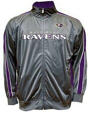 Baltimore Ravens NFL Mens Charcoal Tricot Track Jacket Big & Tall Sizes