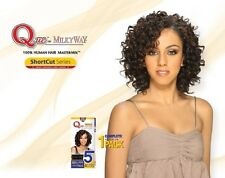 Que by Milky Way Short Cut Series 100% HUMAN HAIR Master Mix NEW DEEP 8""