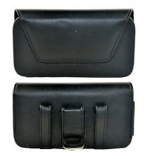 Horizontal Leather Pouch w/Belt clip & Loop for Iphone & Samsung Phones