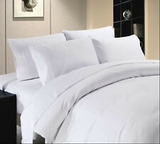 Super Deal - 1000TC Hotel White Extra Deep Pocket Sheet Set & Fitted 100%Cotton