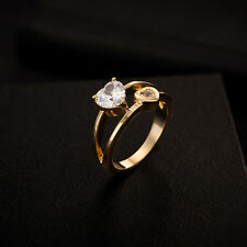 zircon ring 18k gold plated alloy woman jewelry 3 size party wedding jewelry