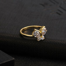 fashion butterfly ring 18K gold plated zircon woman 3 size gifts elegant