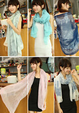 Lady Women's Fashion Pretty Long Soft Chiffon Scarf Wrap Shawl Stole Scarves lot