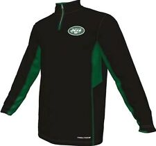 New York Jets NFL Mens Synthetic 1/4 Zip Lightweight Fleece Big & Tall Sizes