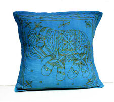 A Sequin Embroidery Ethnic Indian Elephant USA Pillow Cases Cushion Cover
