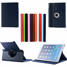 360 Rotating Premium Leather Stand Case Cover For Apple iPad Air 2 iPad 6, 9.7""
