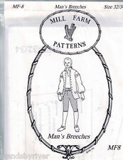 18th Century Man's Breeches Pattern by Mill Farm Patterns