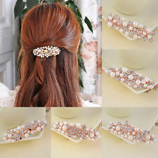 Fashion Women/Girls Crystal Rhinestone Pearl Butterfly Flower Hair Clip Hairpin