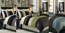 8pc Luxury Comforter Set with Bed Skirt Shams AND Pillows - ALL COLORS & SIZES