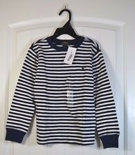 NWT BOYS POLO RALPH LAUREN STRIPED LONG SLEEVE CREW NECK THERMAL T SHIRT SZ 5, 6