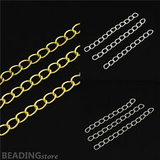 100pcs Jewellery Tail Iron Ends with Twist Extender Extension Chains 50x3.5mm