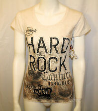 NEW Hard Rock Cafe Honolulu Hawaii COUTURE OATMEAL Tee Shirt T JRS. Ladies L-2X