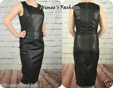 NEXT TAGGED £38 PU LEATHER LOOK DRESS NEW