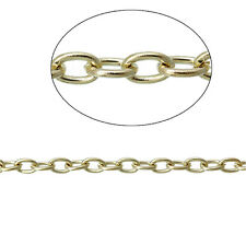 6ft 14K Gold plated Cable Chains 3mm oval Link Findings Jewelry making p5