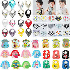 Baby Kid Infant Cartoon Saliva Towel Toddler Waterproof Lunch Feeding Scarf Bibs