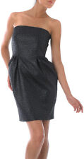 NEW Pied A Terre Animal Jacquard Designer Party Dress Petrol Blue RRP £140.00