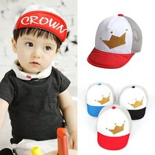 Boy Girl Kids Children Infant Hat Adjustable Baseball Snapback Cap Hip-hop Sport