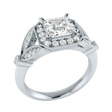 0.95 ct Natural Sapphire & Certified Diamond Solid Gold Wedding Engagement Ring