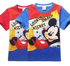Cool Tee Boys Girls Mickey Mouse Casual T-Shirts Kids Cartoon Short Sleeve Tops